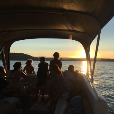 Vol Apéro'boat en Deltaplane à Annecy