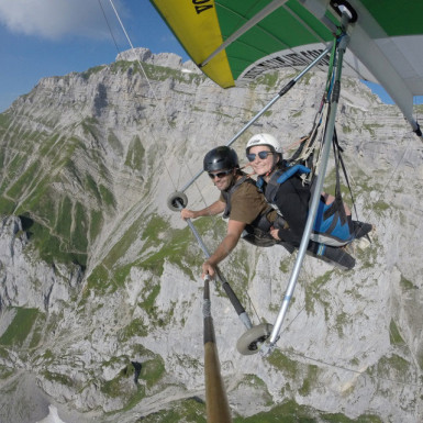 Hang gliding Prestige flight in Annecy