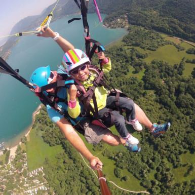 Paragliding flight the Kids flight